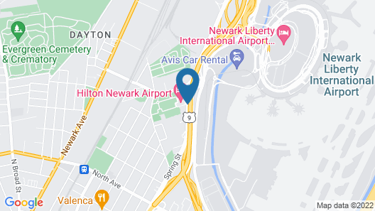 Hilton Newark Airport Map