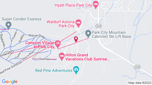 Westgate Park City Resort & Spa Map