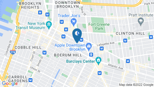 EVEN Hotel Brooklyn, an IHG Hotel Map