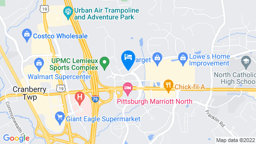 Best Western Plus Cranberry-Pittsburgh North Map