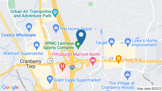 Towneplace Suites by Marriott Pittsburgh Cranberry Township Map