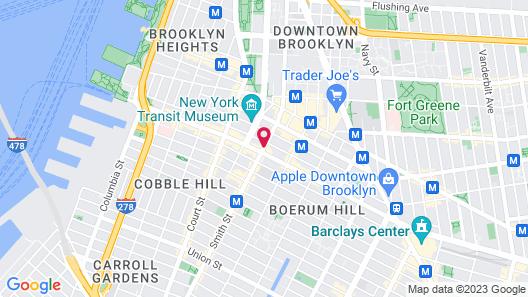 NU Hotel Brooklyn Map