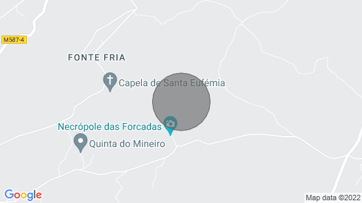 Holiday House in Central Portugal at the Foot of the Serra da Estrela Map