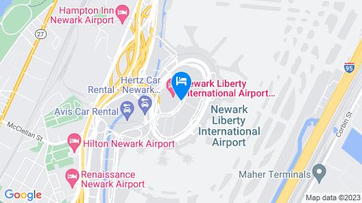 Newark Liberty International Airport Marriott Map