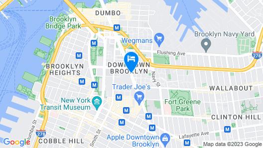 Hampton Inn Brooklyn Downtown NY Map