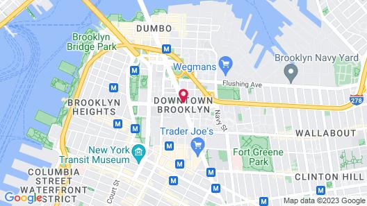 The Tillary Hotel Map