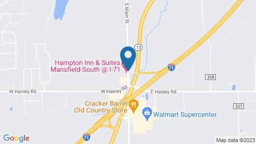 Hampton Inn & Suites Mansfield-South @ I-71 Map