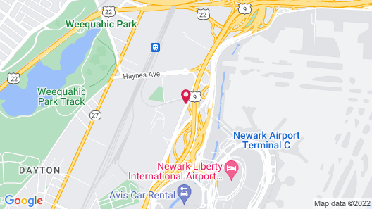 Newark Airport Hotel Map