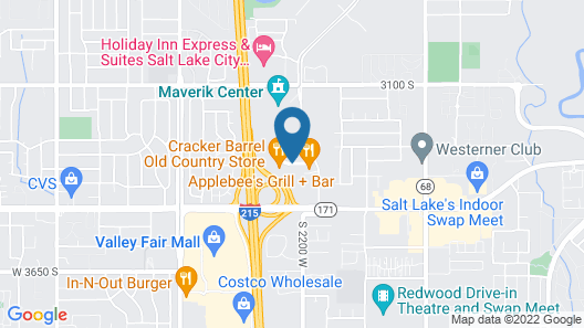 Crystal Inn Hotel & Suites West Valley City Map