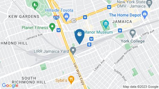 LeTap Hotel near AirTrain JFK Airport Map