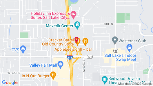 Extended Stay America Salt Lake City - West Valley Center Map