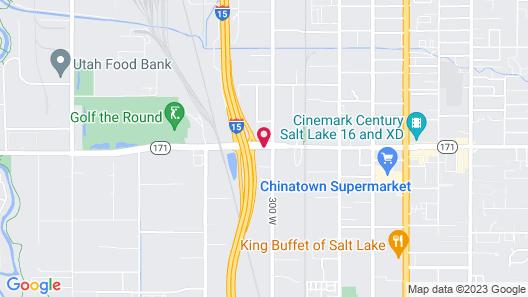 Motel 6 Salt Lake City, UT - Central Map