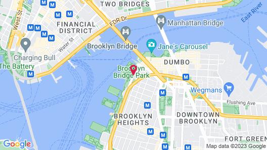 1 Hotel Brooklyn Bridge Map