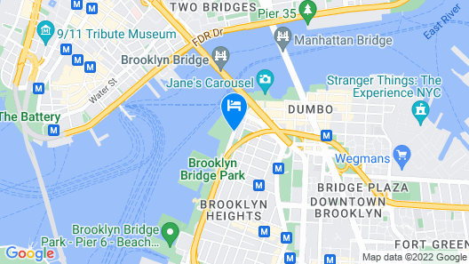 1 Hotel Brooklyn Bridge Map
