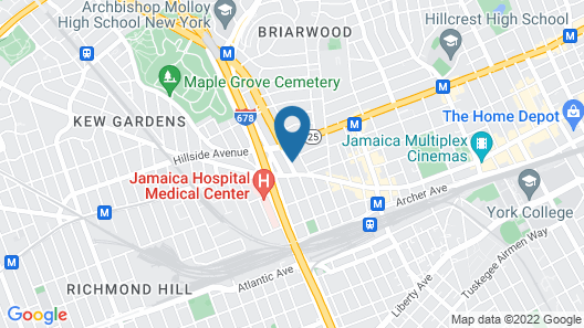 SpringHill Suites by Marriott New York JFK Airport/Jamaica Map