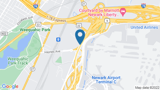 Wyndham Garden Hotel Newark Airport Map
