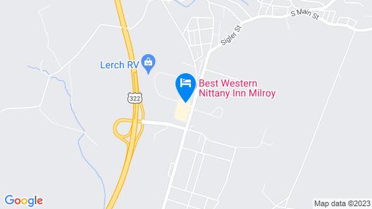 Best Western Nittany Inn Milroy Map
