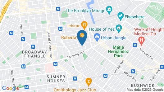 The New York Loft Hostel Map