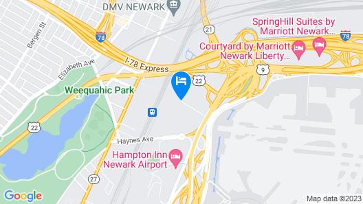 Best Western Plus Newark Airport West Map