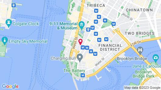 Fairfield Inn & Suites New York Downtown Manhattan / World Trade Center Area Map