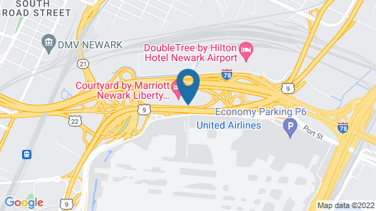 SpringHill Suites by Marriott Newark Liberty International Map