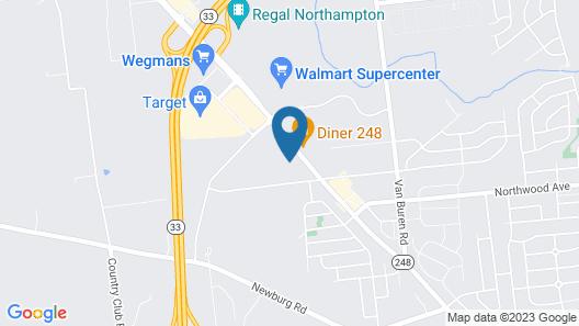 Hampton Inn Easton Map