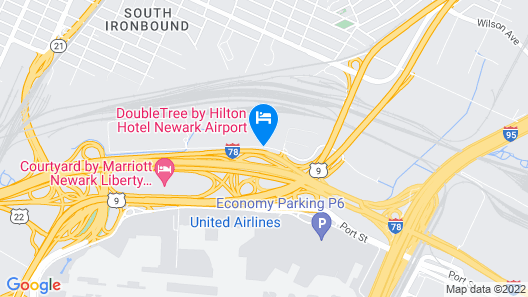 DoubleTree by Hilton Hotel Newark Airport Map