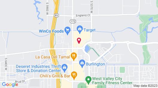 Hampton Inn West Valley Salt Lake City Map