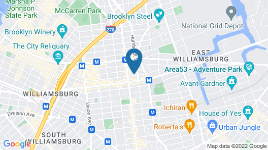 Garden Jewel apartment in Williamsburg, Brooklyn, New York Map