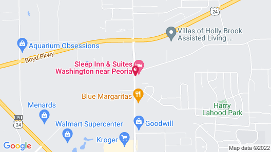 Sleep Inn & Suites Washington near Peoria Map