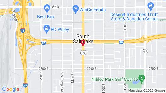 Ramada by Wyndham Salt Lake City Map