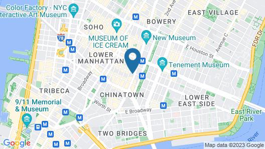 Best Western Bowery Hanbee Hotel Map