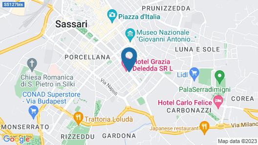 Hotel Grazia Deledda Map