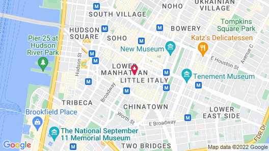 The Solita Soho Hotel Map