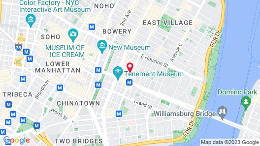 Hotel On Rivington Map