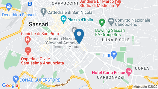 Hotel Leonardo Da Vinci Map