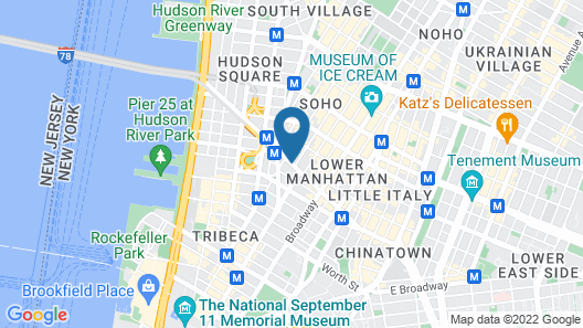 Sheraton Tribeca New York Hotel Map