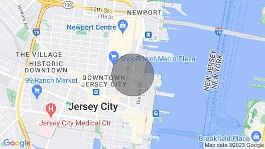 Beautiful Studio Apartment in Jersey City Map