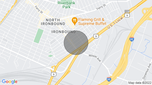 Sparkling Guesthouse in Ironbound, mins 2 NYC, EWR Map