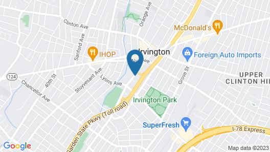 Red Carpet Inn Newark/Irvington, NJ Map
