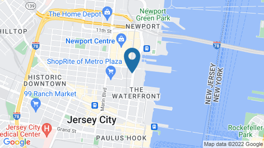 DoubleTree by Hilton Hotel & Suites Jersey City Map