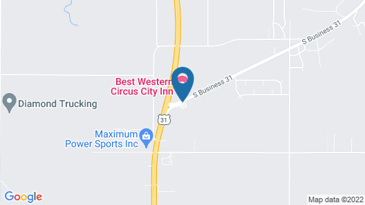 Best Western Circus City Inn Map