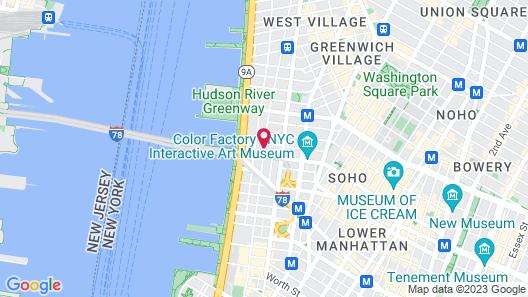 Hotel Hugo Map