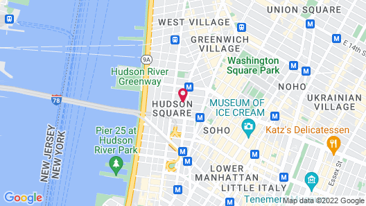 Four Points by Sheraton Manhattan SoHo Village Map