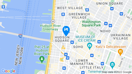 Four Points by Sheraton Manhattan SoHo Village Map
