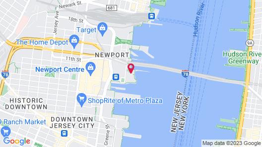 Hudson Suites at Newport Map