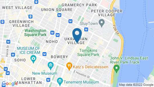 East Village Hotel Map
