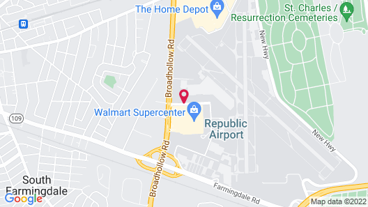 TownePlace Suites by Marriott Republic Airport Long Island Map