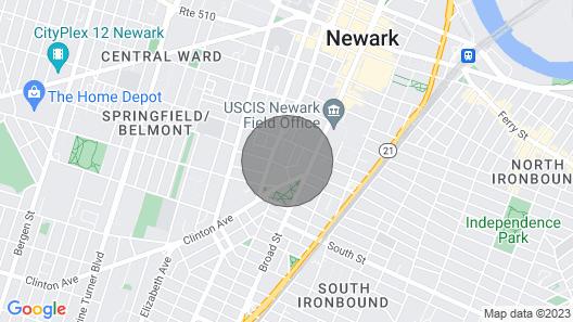 Urban Newark Apt, 1 Mi to Prudential Center! Map