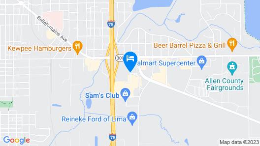 Howard Johnson by Wyndham Lima Map